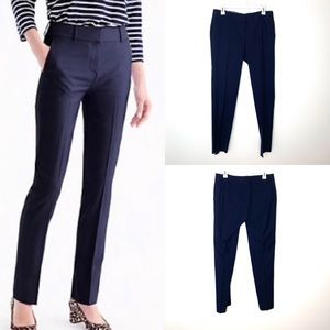 J. Crew Super 120's Navy City Fit Wool Trousers